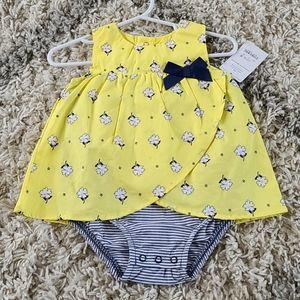 Carter's Blue + Yellow Floral Dress Size 6M